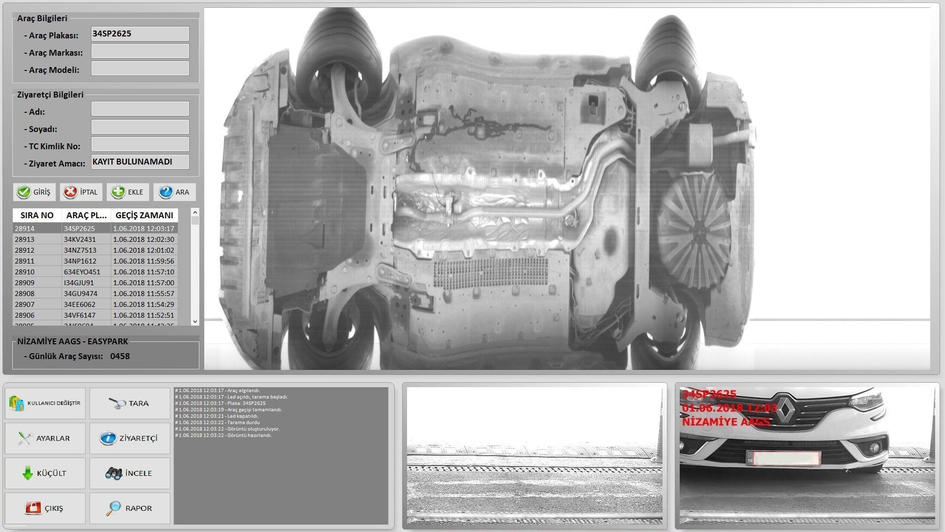 Araç Altı Görüntüleme Sistemi (Kameralı)
