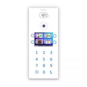 Multitek IP İnterkom Sistemi DIP40B Beyaz Kapı Paneli